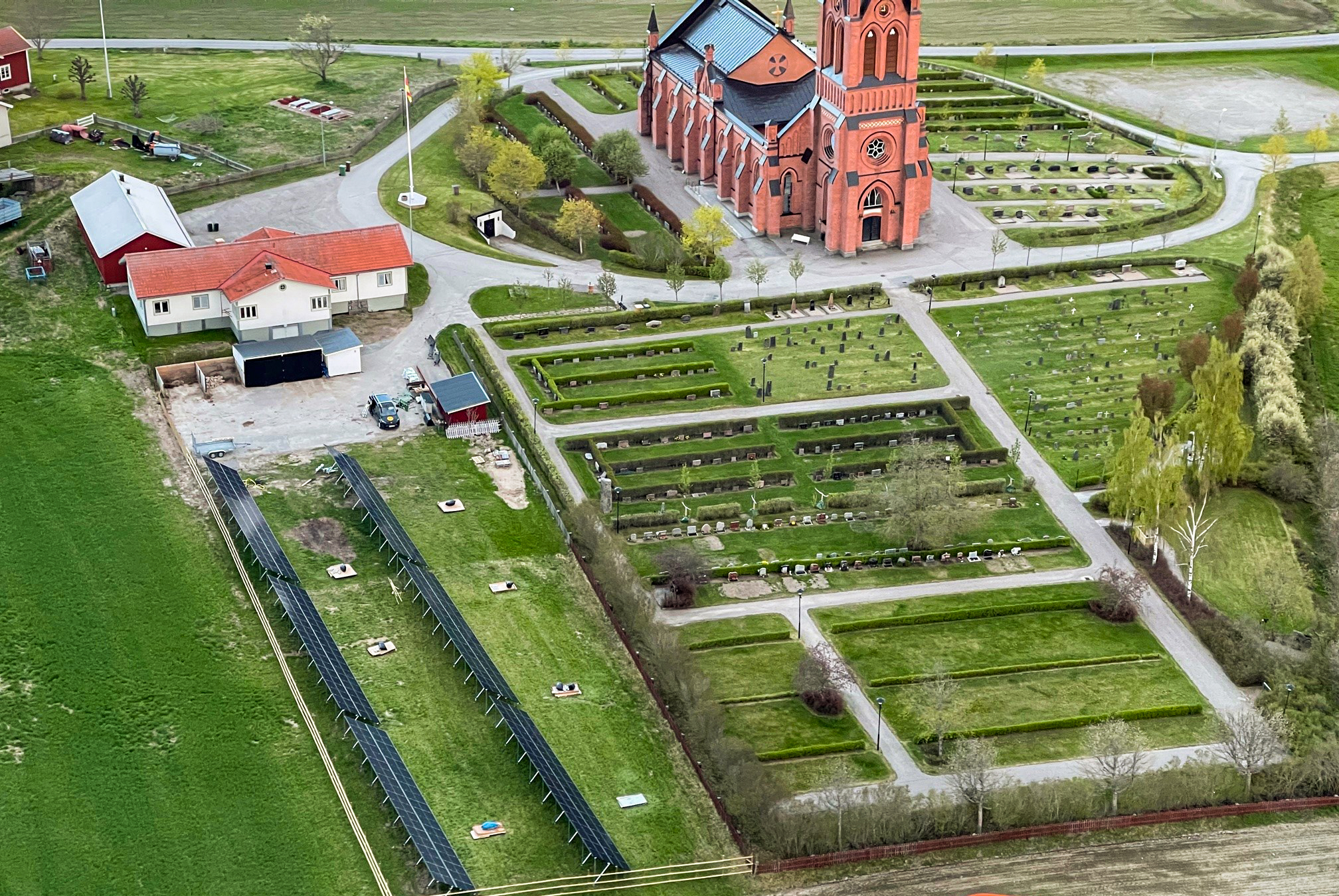 Trönö kyrka solcellsanläggning